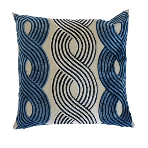 Greyhound Blue Pillow