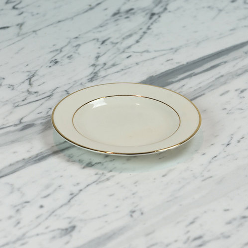Ivory with Double Gold Band Saucer
