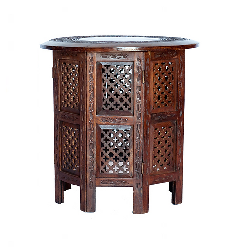 Round Wooden End Table