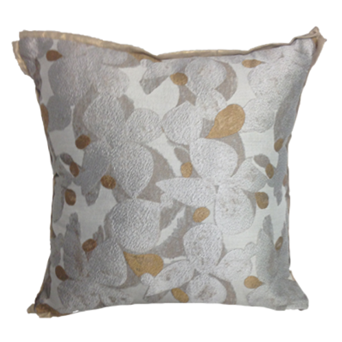 Abstract Floral Metallic Pillow