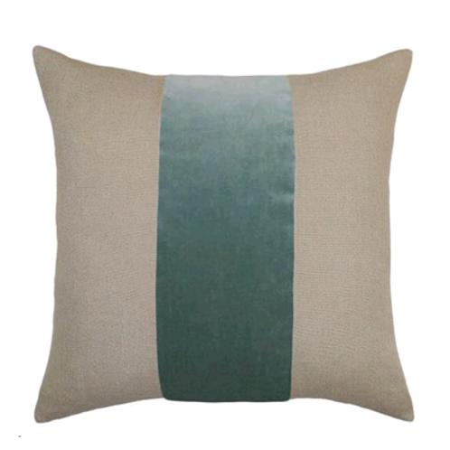 Jade Velvet & Linen Stripe
