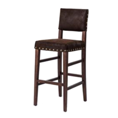 Nubuck Dark Wood Barstool