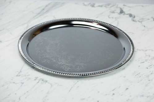 Elegance Silver Plated Round Tray