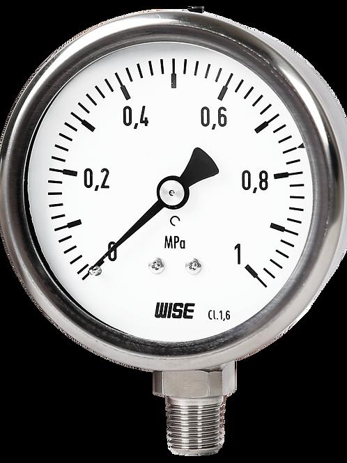 Đồng hồ áp suất P255 (vỏ inox chân inox)