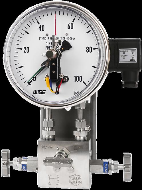 Đồng hồ áp suất chênh áp (tiếp điểm điện) P651 P652