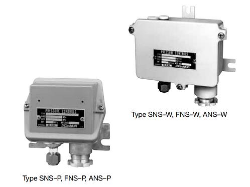 Công tắc (điều khiển) áp suất đôi  FNS–W/P & ANS–W/P (Drip proof)