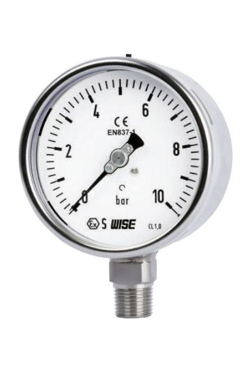 Đồng hồ áp suất WISE P252 (inox toàn bộ, chuẩn CE Châu Âu)