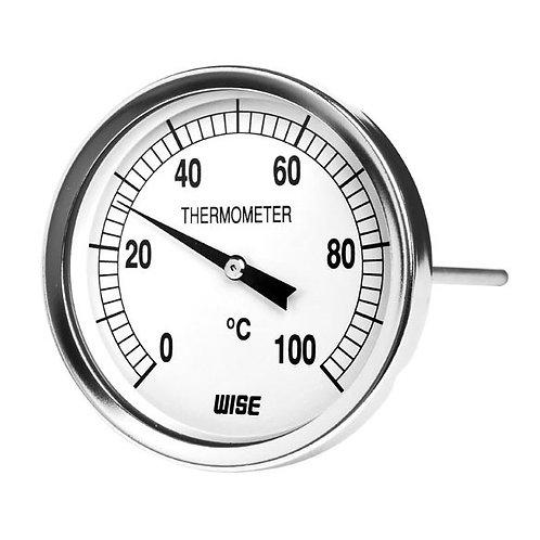 Đồng hồ nhiệt độ T114 (vỏ thép mạ crom, que dò inox)