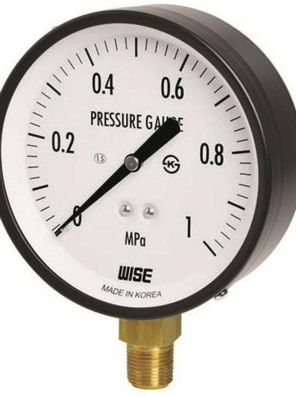 Đồng hồ áp suất WISE P110 (vỏ thép sơn đen chân đồng)