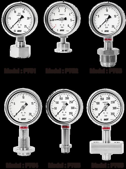 Đồng hồ áp suất màng Clamp WISE P750s - P751, P752, P753, P754, P755, P756