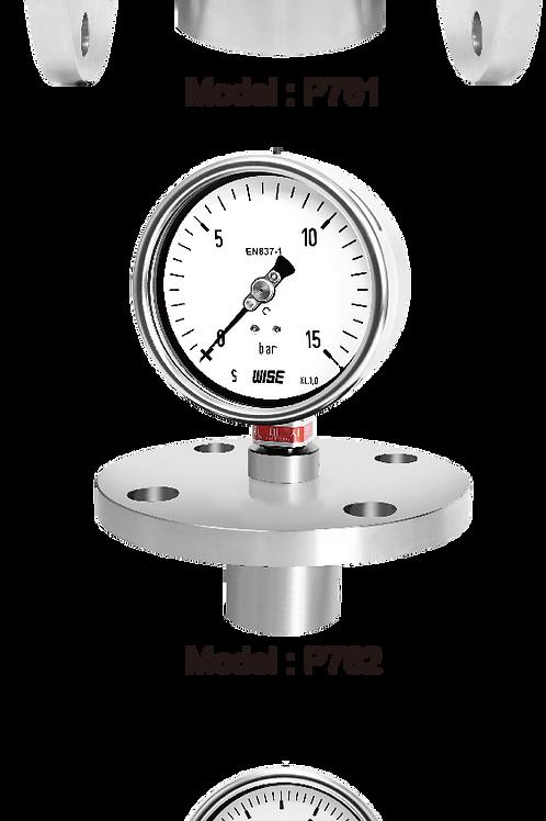 Đồng hồ áp suất màng P761 P762 P763