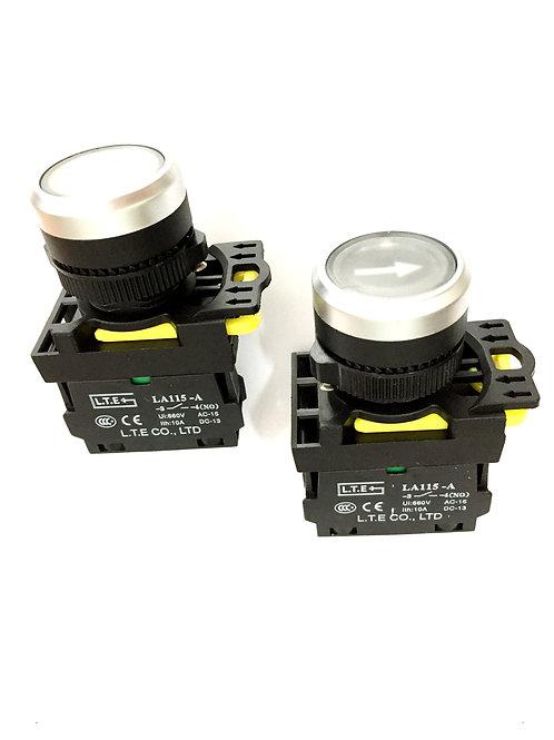 Nhấn nhả đèn led Ø 22 (loại kiểu) LA115-A5 series