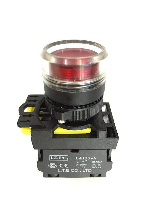 Nhấn nhả đèn led Ø 22 (loại phẳng) LA115-A5 series
