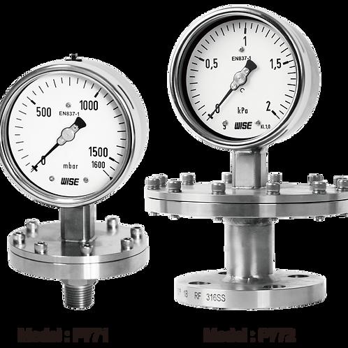 Đồng hồ áp suất màng áp thấp P771 P772