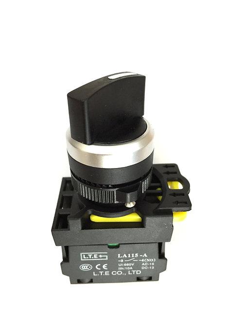 Công tắc chọn 2 hoặc 3 vị trí không đèn (cần ngắn) - LA115-A5 series