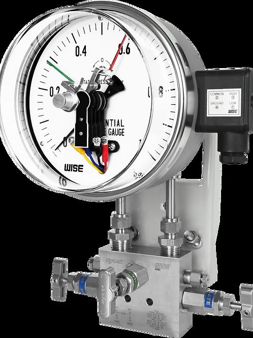 Đồng hồ áp suất chênh áp (tiếp điểm điện) P690