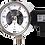 Thumbnail: Đồng hồ áp suất (tiếp điểm điện) P520