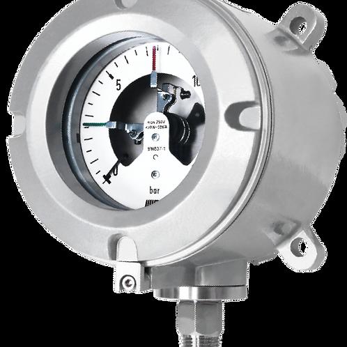 Đồng hồ áp suất tiếp điểm điện + công tắc P980