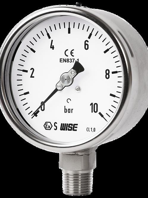 Đồng hồ áp suất Solid Front P257 (inox toàn bộ, Chuẩn CE, loại Safety pattern)