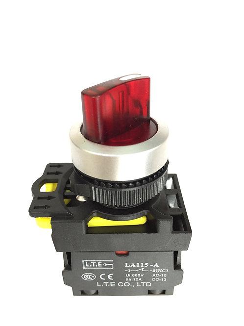 Công tắc chọn 2 hoặc 3 vị trí có đèn (cần ngắn) - LA115-A5 series