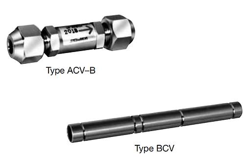Check valves  ACV & BCV