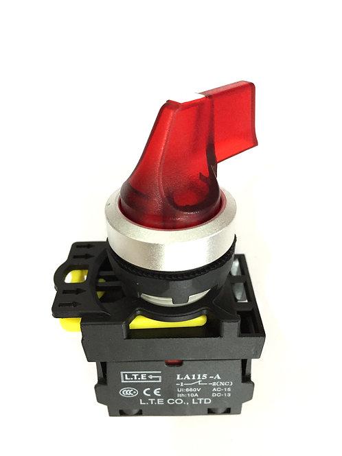 Công tắc chọn 2 hoặc 3 vị trí có đèn (cần dài) - LA115-A5 series