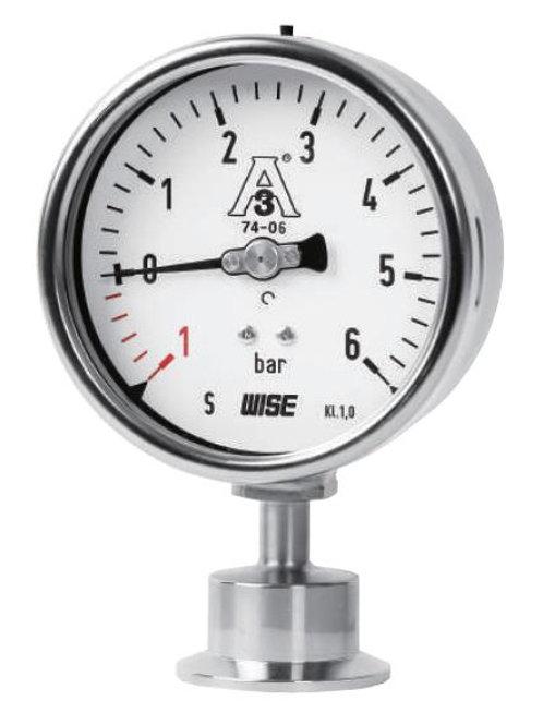Đồng hồ áp suất màng Clamp 3A WISE P752S