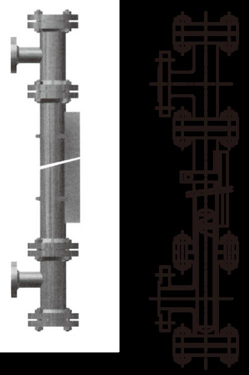Optional thước đo mức loại magnetic float với lining cho L300