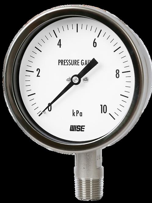 Đồng hồ áp suất thấp P421 (inox toàn bộ)