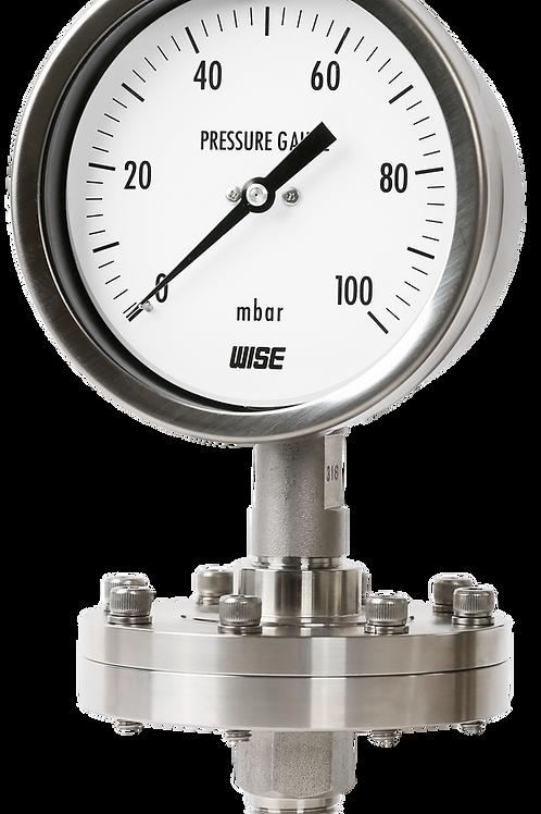 Đồng hồ áp suất thấp có màng P428, P429