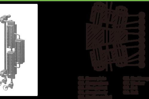 Thước đo mức loại transparent và hai-màu L500