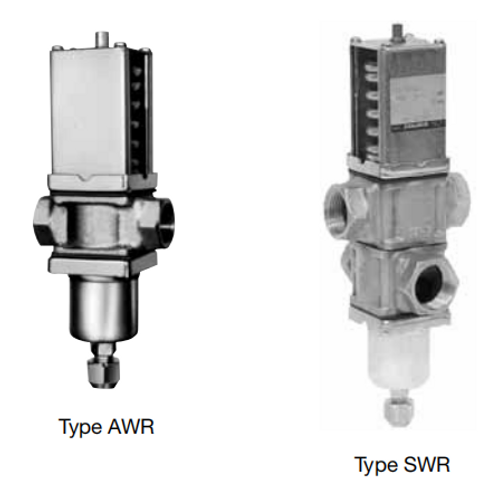 Pressure Actuated Water Regulating Valves CWR, AWR, GWR, MWR & SWR