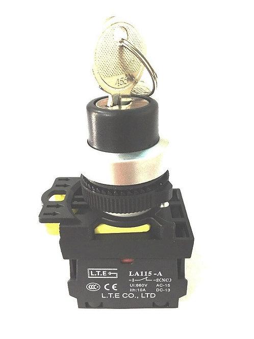 Công tắc chọn 2 hoặc 3 vị trí không đèn (có khóa) - LA115-A5 series