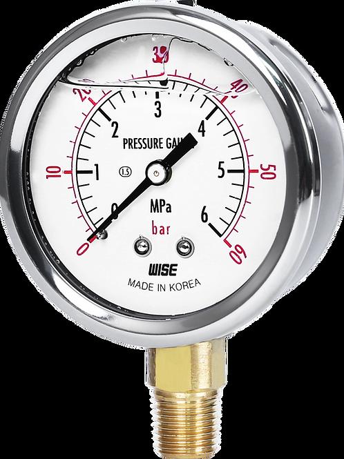 Đồng hồ áp suất P254 (vỏ inox chânđồng)