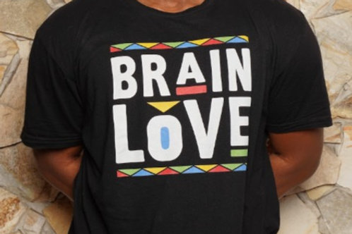 (Medium) Brain Love Tee  (Adult Men's)