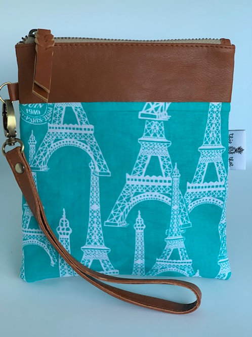Teal Eiffel Tower - Bella Purse