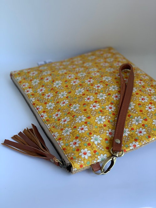 Yellow Flowers - Chelsea Clutch