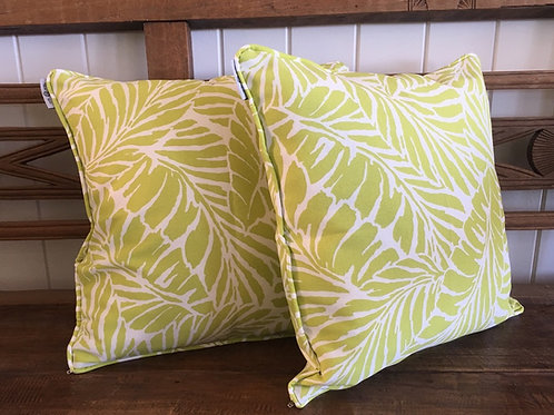 Lime Leaves - Cushion Cover
