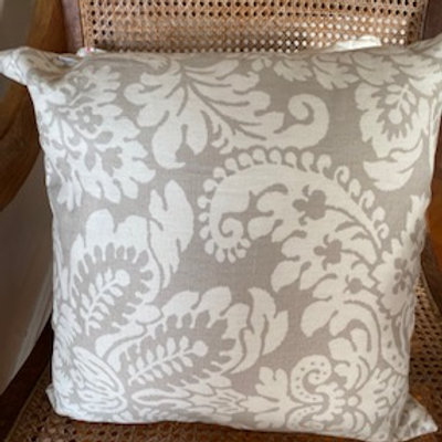 Beige Damask - Cushion Cover
