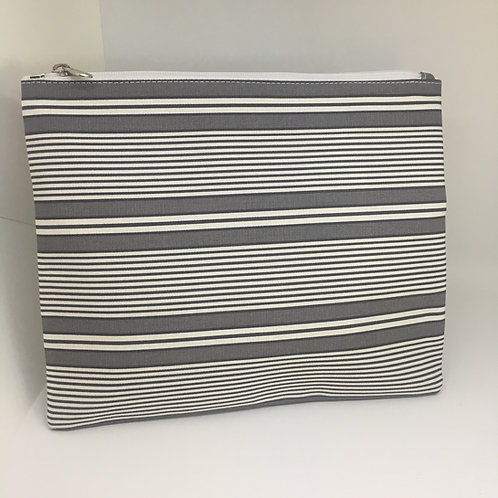 Grey Stripe iPad Purse