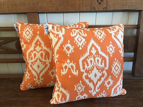Orange Ikat - Cushion Cover
