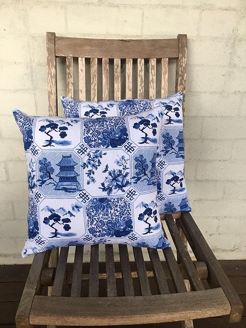 Oriental Scene - Cushion Cover