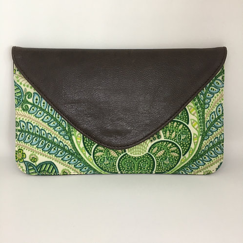Green Paisley - Coco Clutch