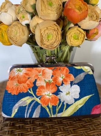 Blue & Orange Floral - 50's Purse