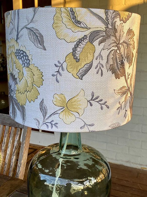 Yellow and Grey Floral - Lampshade