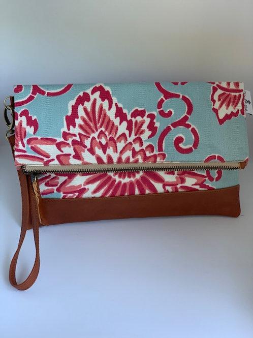 Pink on Blue - Breezes Clutch