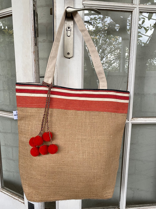 Marine Stripe - Market Bag
