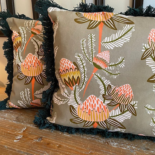 Banksia Brown - Cushion Cover