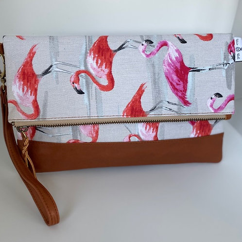Pink Flamingo - Breezes Clutch
