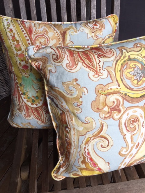 Gold Paisley - Cushion Cover